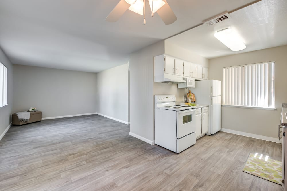Living room at Granada Villas Apartment Homes in Lancaster, California