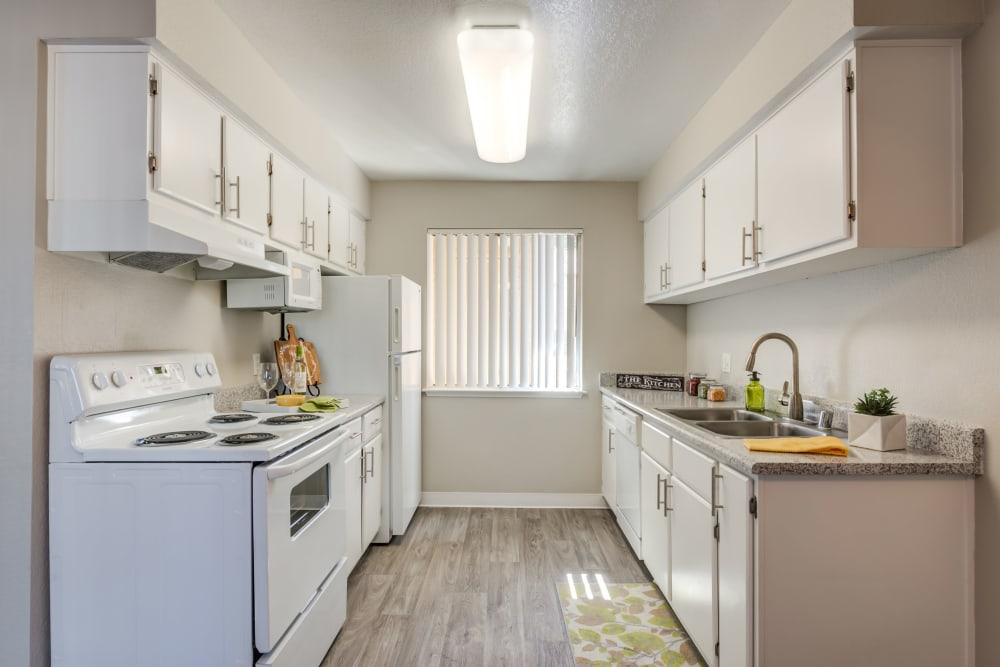 Kitchen at Granada Villas Apartment Homes in Lancaster, California