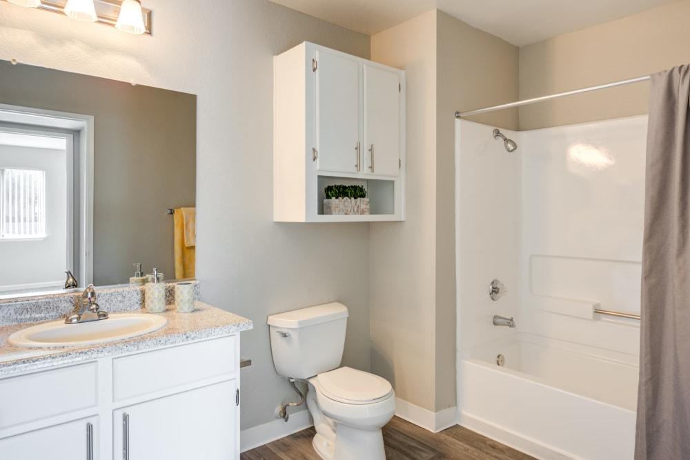 Bathroom at Granada Villas Apartment Homes in Lancaster, California