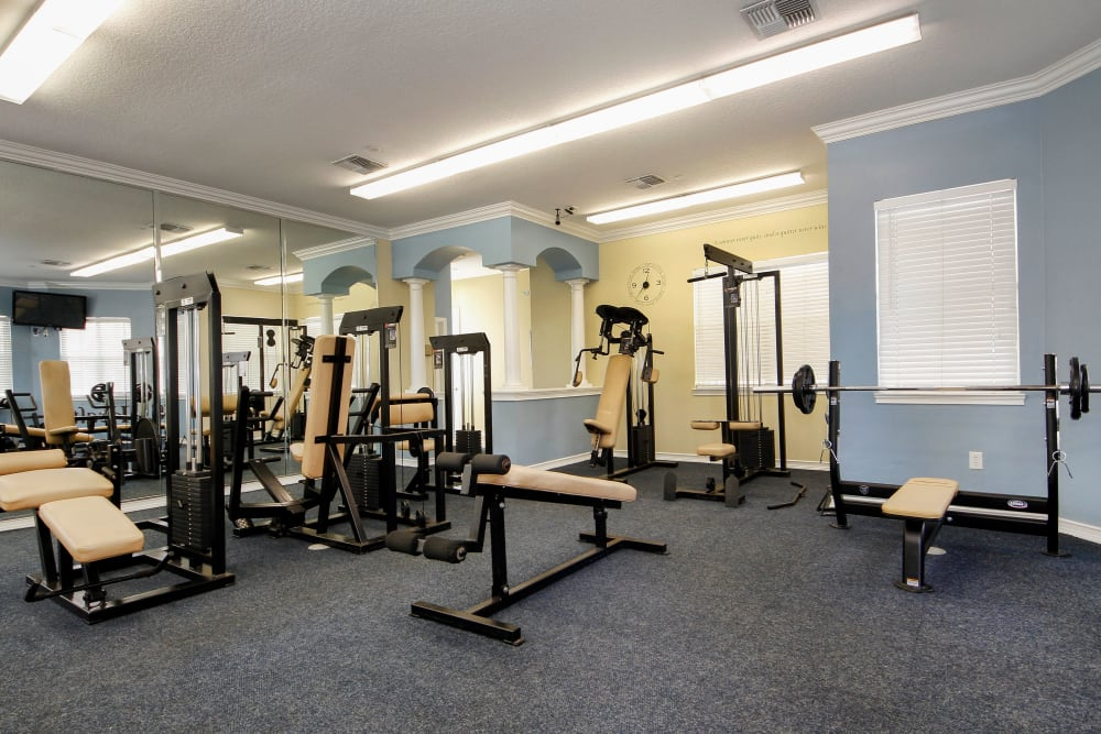 Fitness center with state of the art equipment at Legends Winter Springs in Winter Springs, Florida