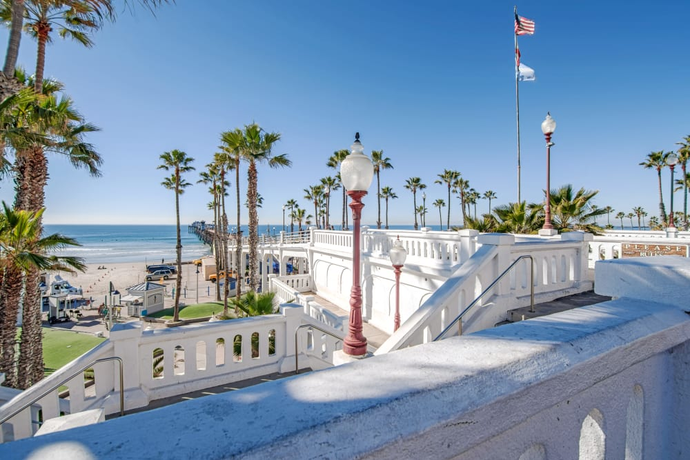 View of Oceanside Pier in Oceanside