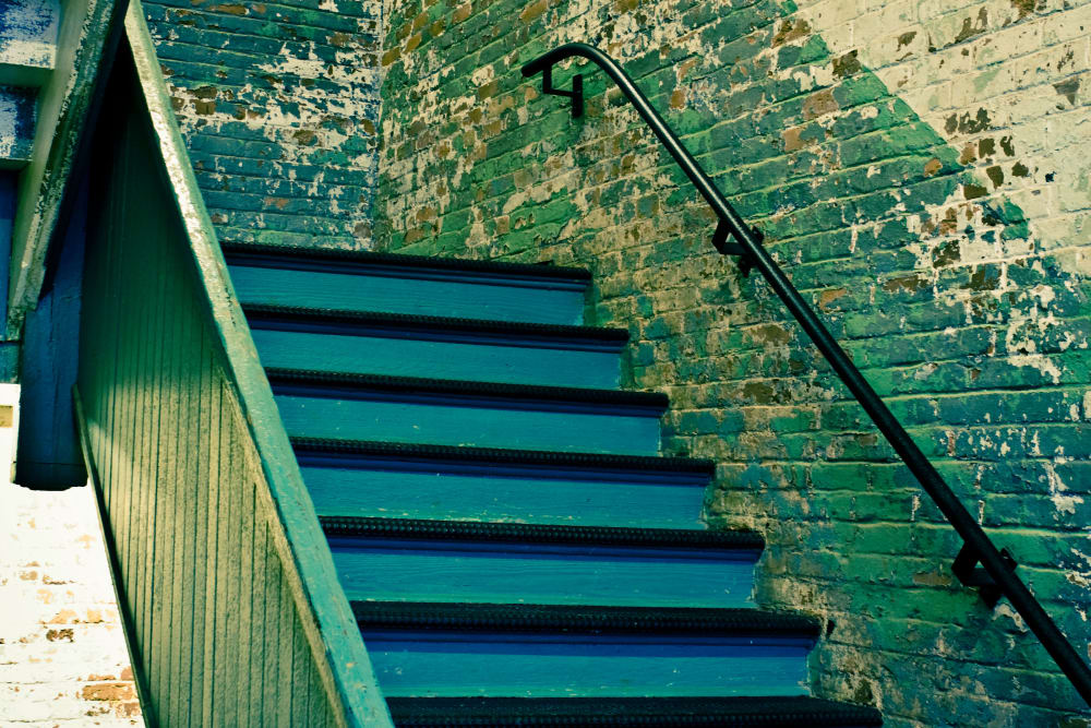 Stairwell at The Lofts Of Greenville in Greenville, South Carolina