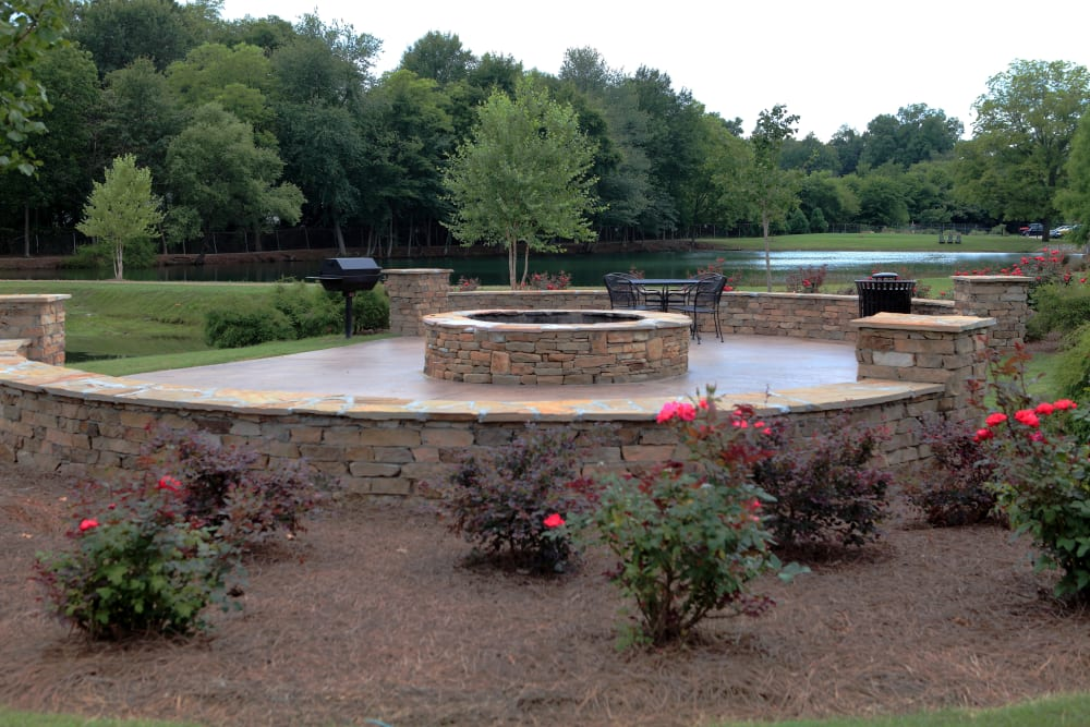 Fire pit at The Lofts Of Greenville in Greenville, South Carolina