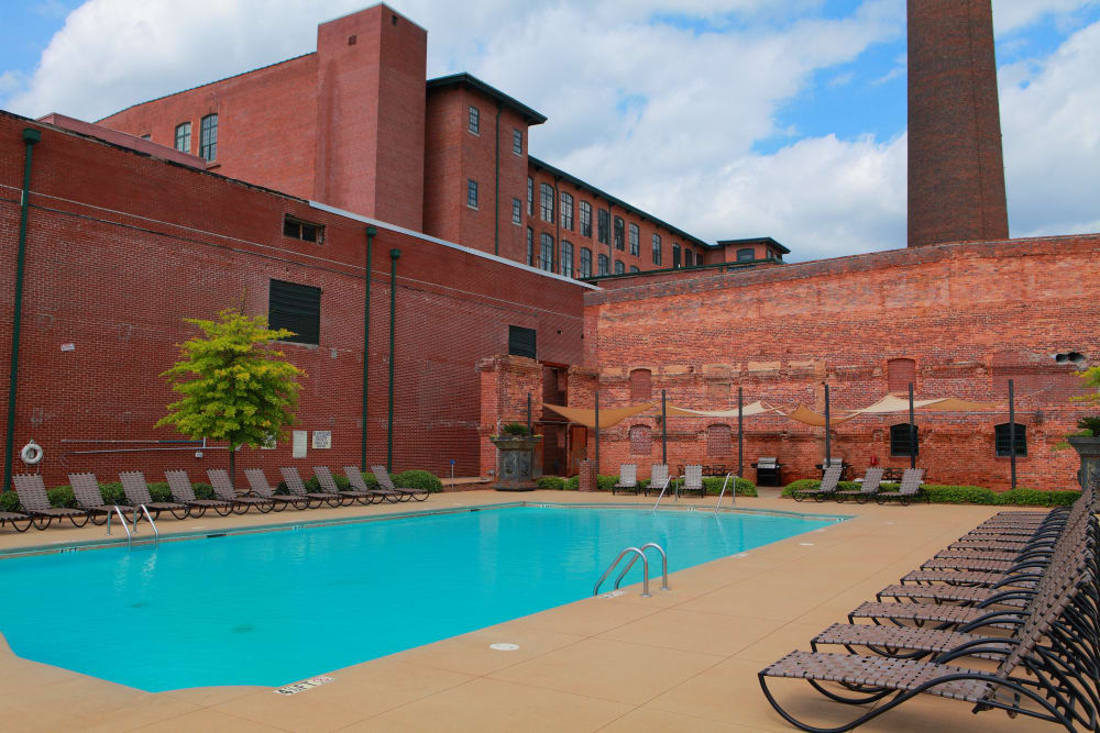 Swimming pool at The Lofts Of Greenville in Greenville, South Carolina