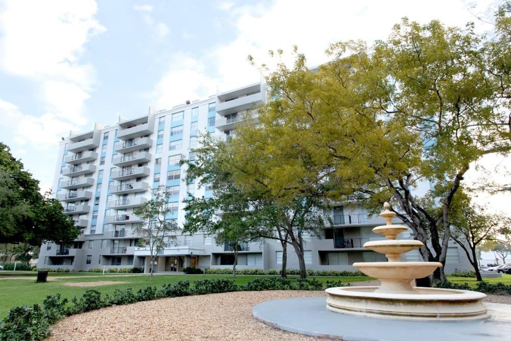Fountain in front of Aliro in North Miami, Florida