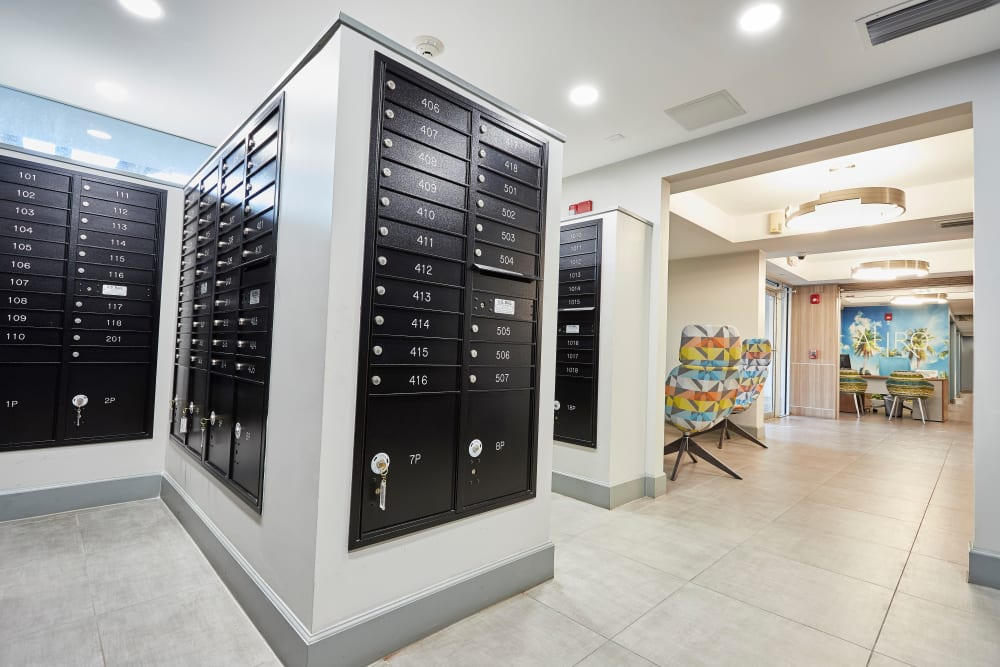Lockers at Aliro in North Miami, Florida