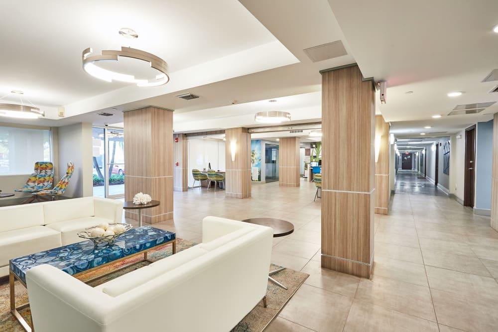 Lobby at Aliro in North Miami, Florida