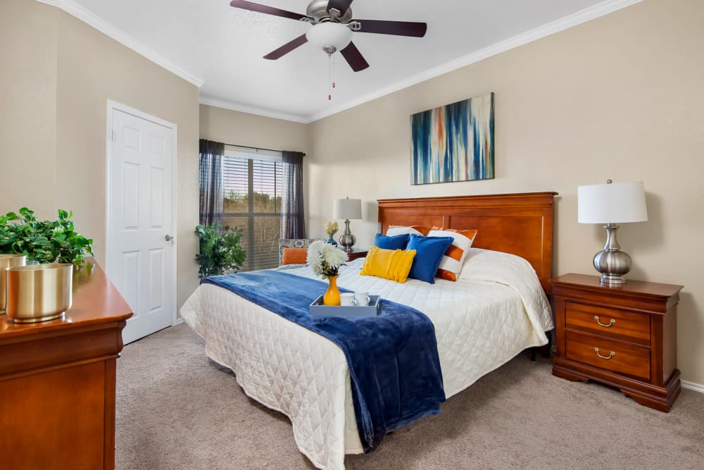 Beautiful Bedroom at Villas at Oakwell Farms in San Antonio, Texas