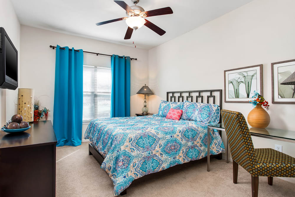 Spacious Bedroom at Onion Creek Luxury Apartments in Austin, Texas