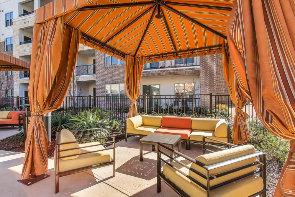 Poolside Cabanas at at Villas at the Rim in San Antonio