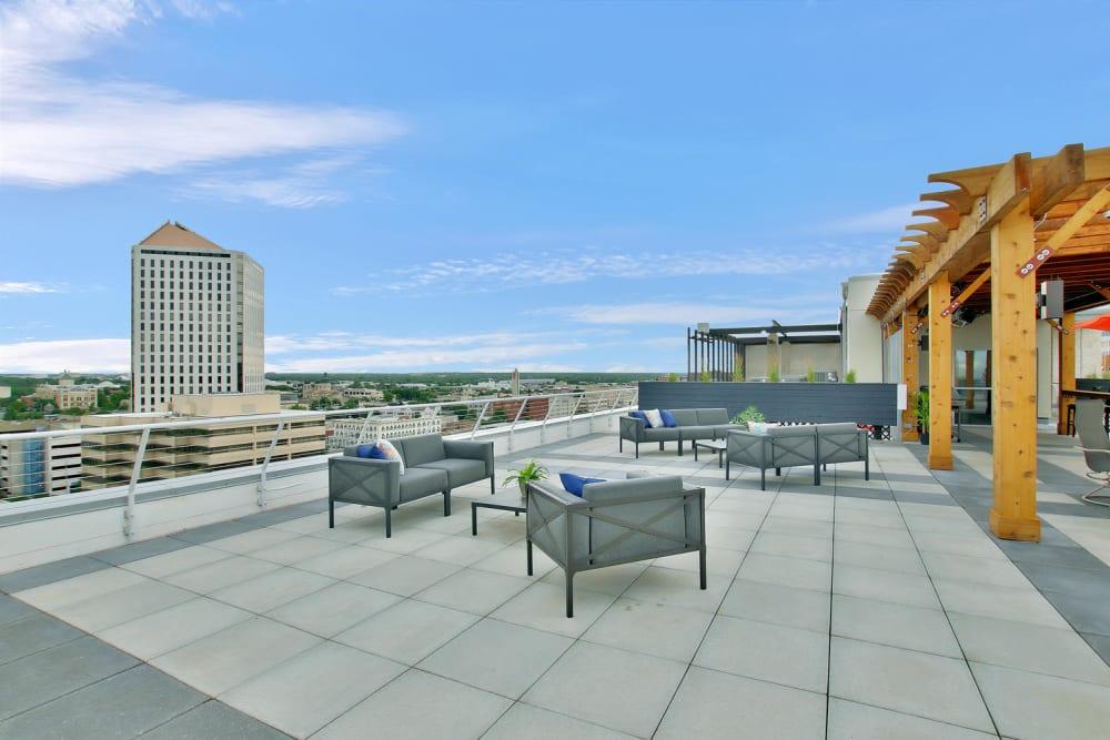 Rooftop patio view at Colorado Derby Lofts in Wichita, Kansas