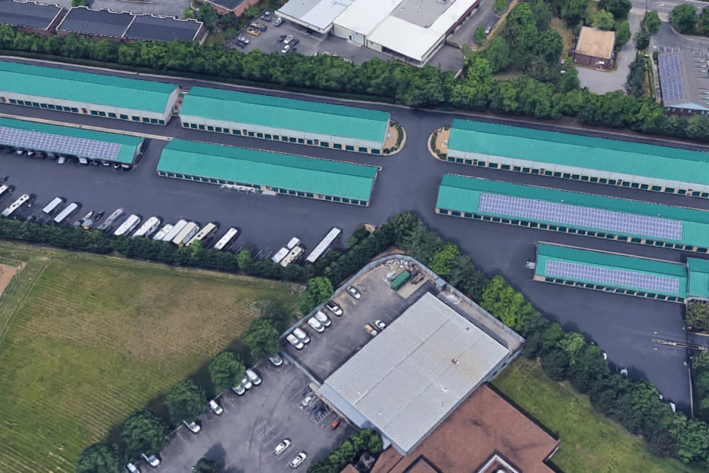 Aerial view of Mallory Station Storage in Franklin, Tennessee