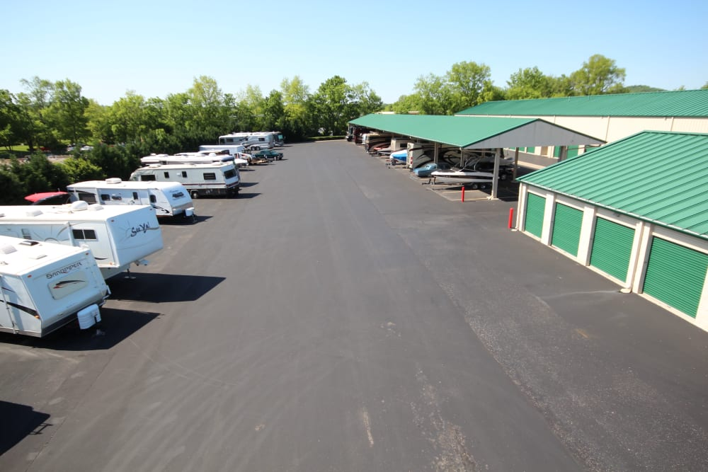 RV parking at Mallory Station Storage in Franklin, Tennessee