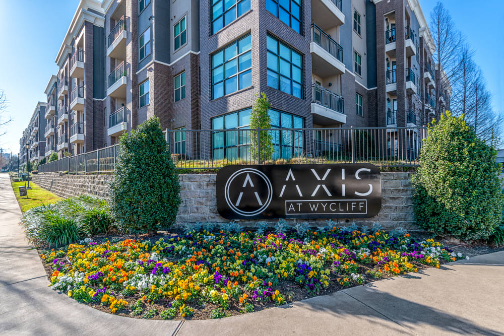Entry to Axis at Wycliff in Dallas, Texas