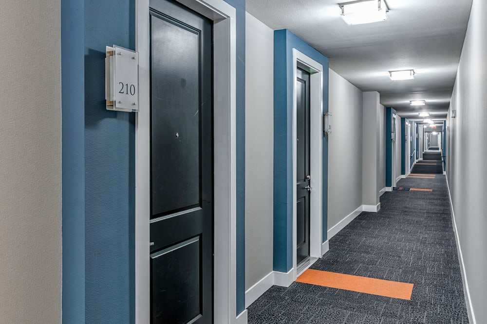 Door to apartments in Dallas, Texas at Axis at Wycliff