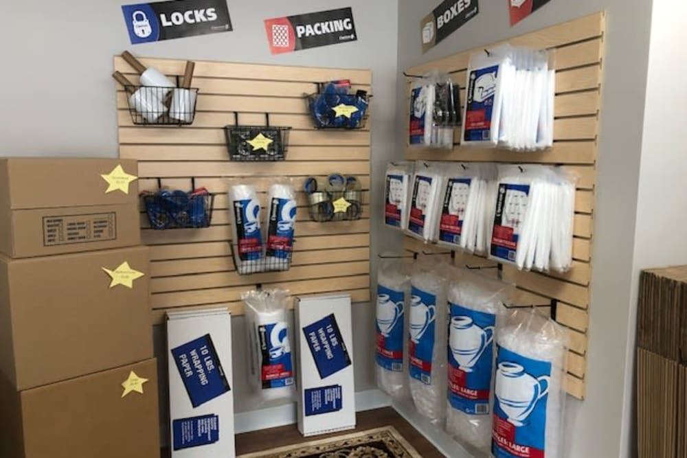 Moving and packing supplies at Safe Storage in Hollis, Maine
