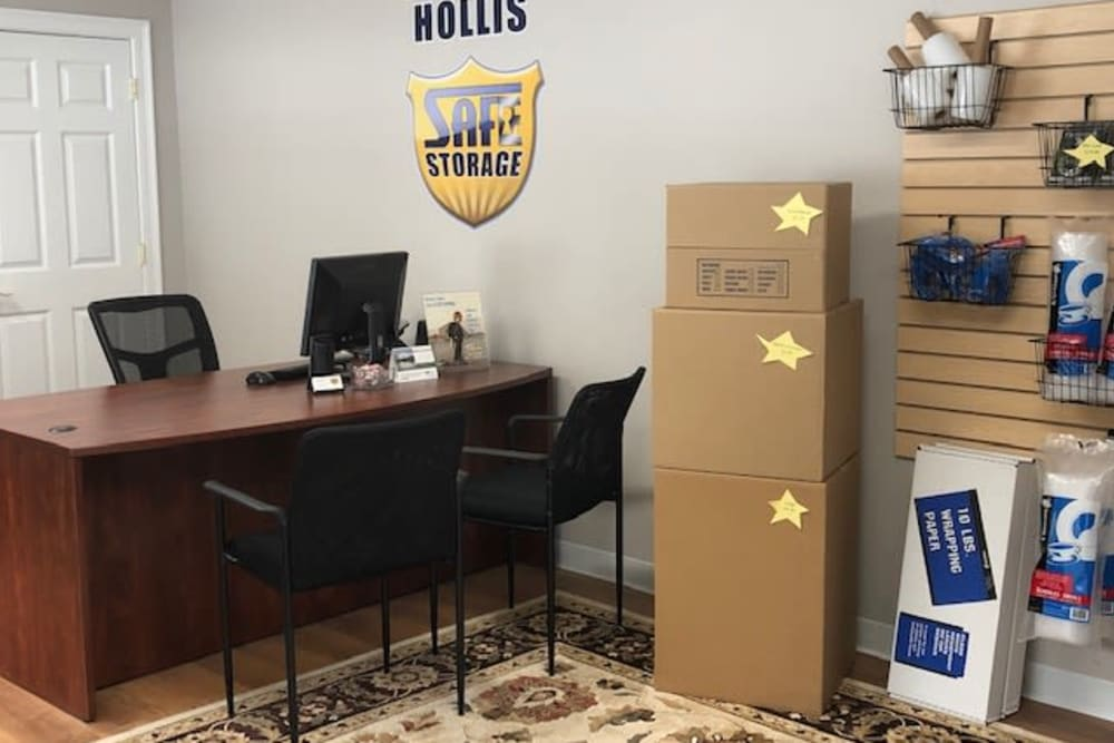 Moving supplies at Safe Storage in Hollis, Maine