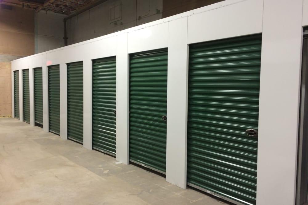 Clean interior self storage units at Safe Storage in Parsonsfield, Maine