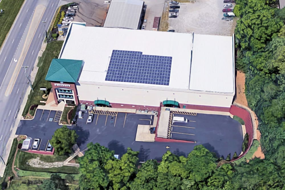Aerial view of Mallory Station Storage in Brentwood, Tennessee
