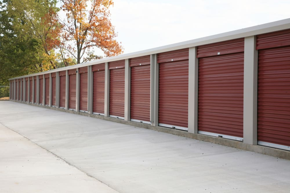 Wide driveways at Storage OK in Tulsa, Oklahoma