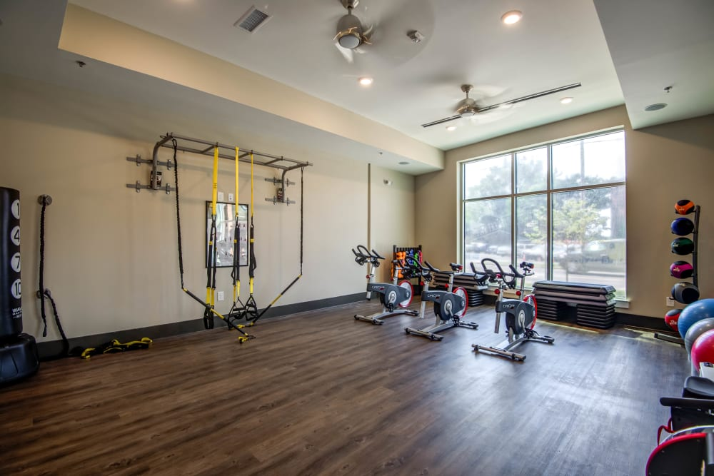 Fitness center at Mercury NoDa in Charlotte, North Carolina