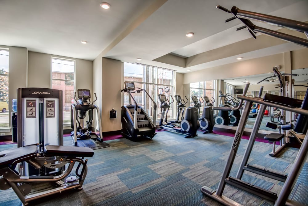 Workout room at Mercury NoDa in Charlotte, North Carolina