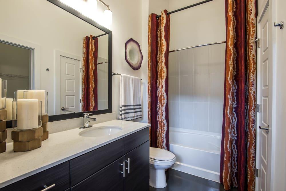 Bathroom model layout at Mercury NoDa in Charlotte, North Carolina