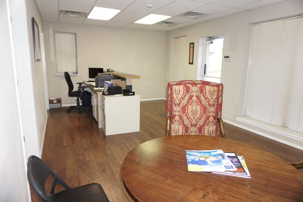 Office desk at Storage OK in Jenks, Oklahoma