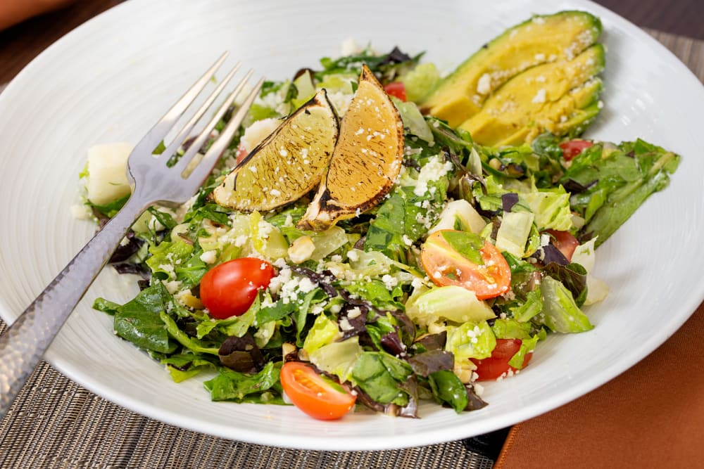 A fresh salad at Touchmark at Coffee Creek in Edmond, Oklahoma