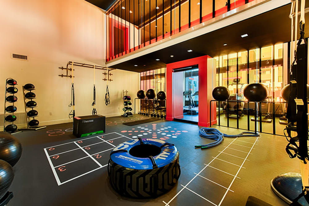 Luxury fitness room at The TOMSCOT in Scottsdale, Arizona