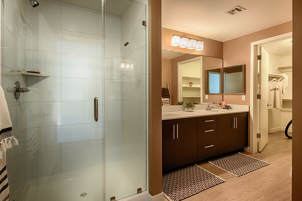 Bathroom with luxury shower at The TOMSCOT in Scottsdale, Arizona