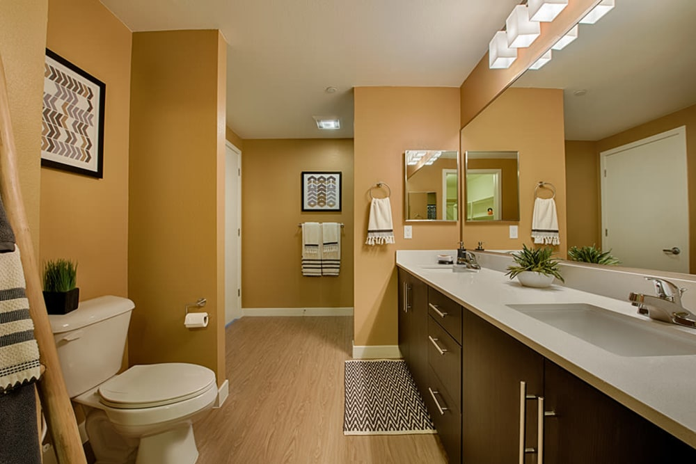 Luxury bathroom model layout at The TOMSCOT in Scottsdale, Arizona