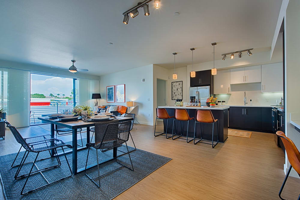 Open concept living space at The TOMSCOT in Scottsdale, Arizona