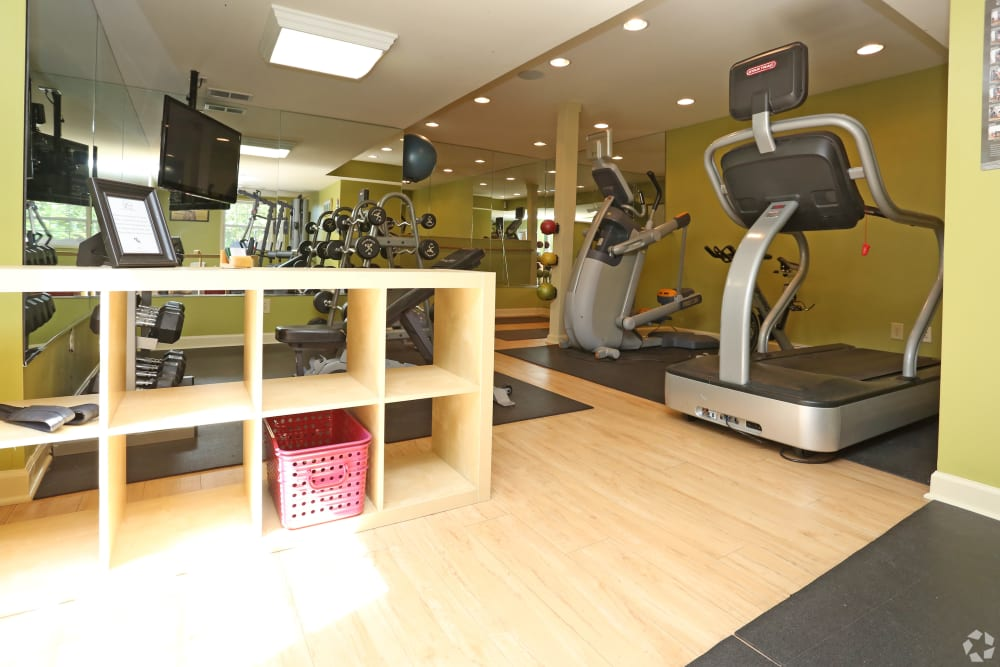 Fitness equipment at The Creeks On Tates Creek in Lexington, Kentucky