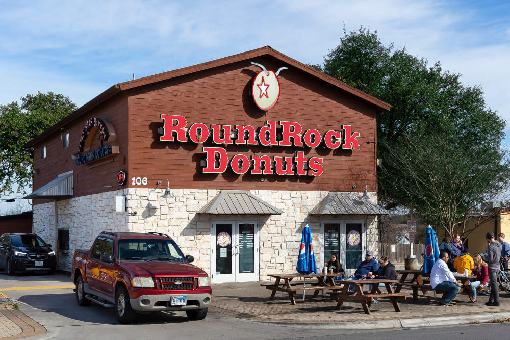 Round Rock donuts, close to Affinity at Round Rock