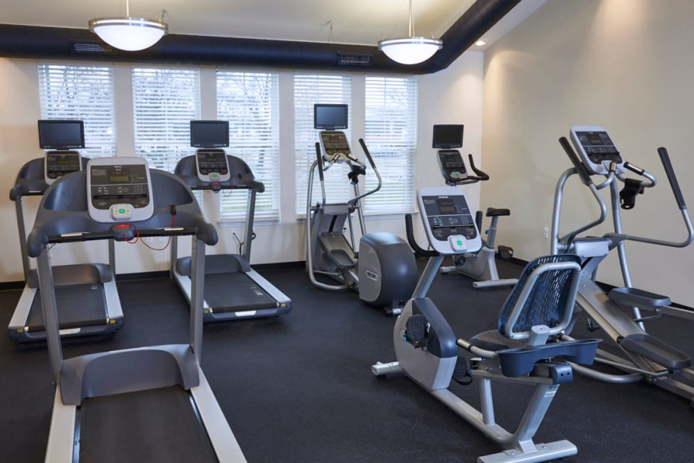 Spin cycles in fitness center at President Madison Apartments in Madison Heights, Michigan