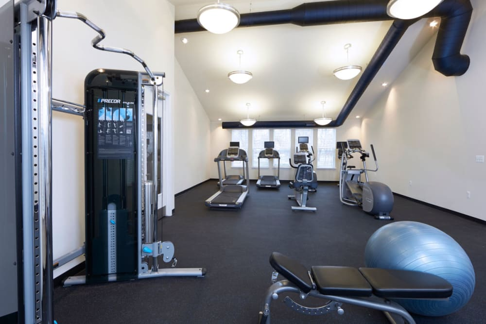 Fitness center in Madison Heights, Michigan at President Madison Apartments