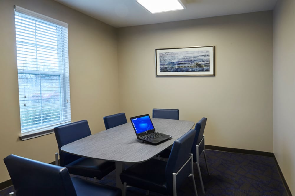 Business center in Madison Heights, Michigan at President Madison Apartments