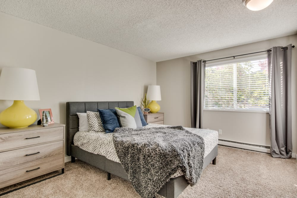 Bedroom at Copperstone Apartment Homes in Everett, Washington