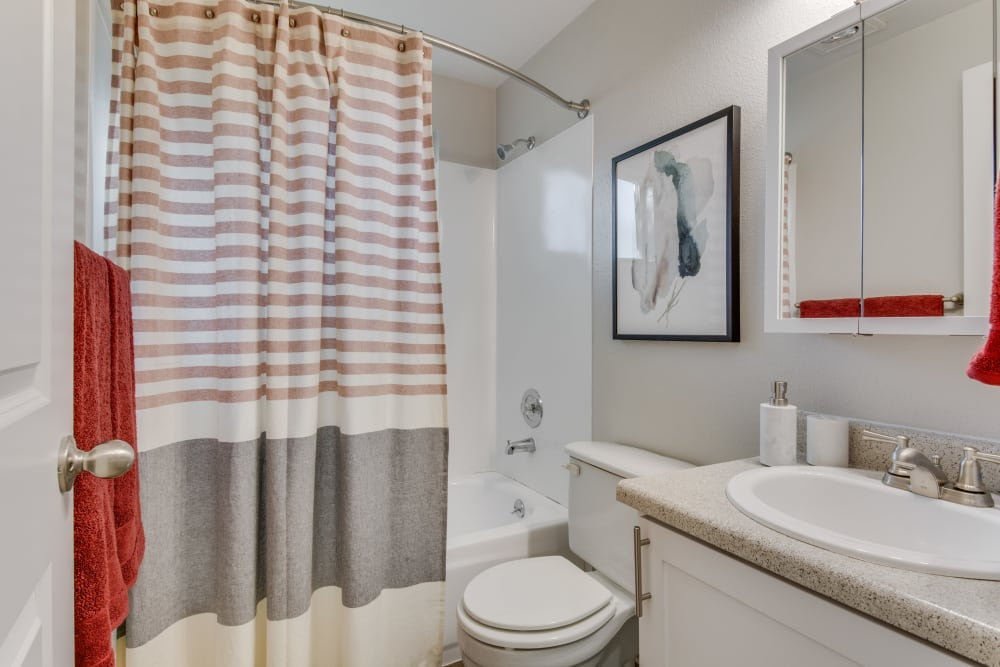 Bathroom at Copperstone Apartment Homes in Everett, Washington