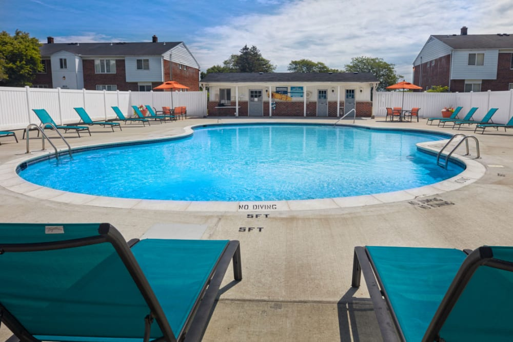 Swimming pool in Warren, Michigan at Harlo Apartments