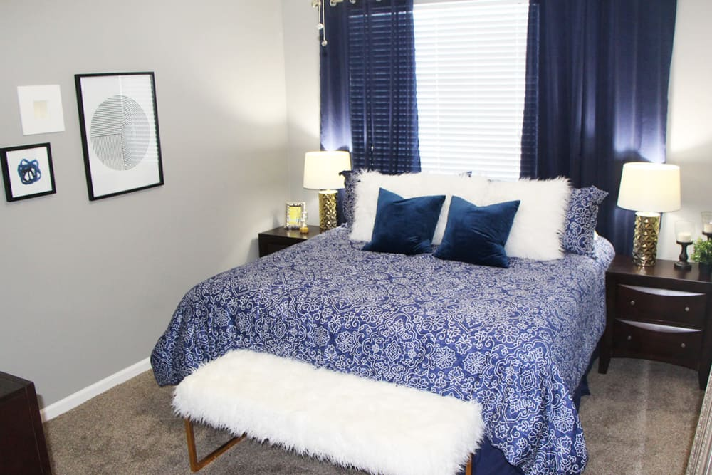 Bedroom at Emerald Lakes in Greenwood, Indiana