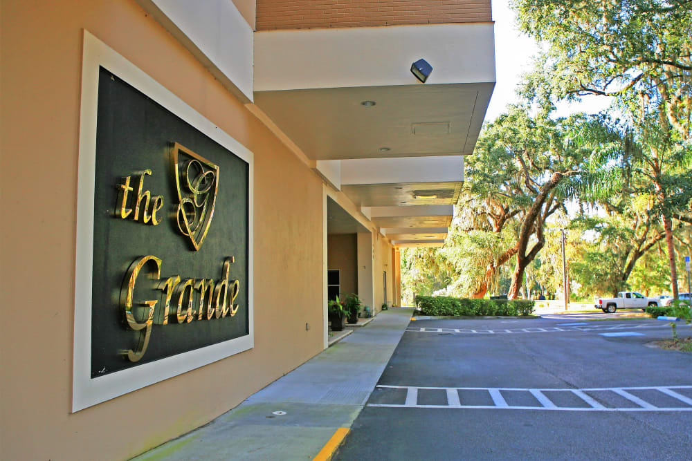 Branding and signage at The Grande in Brooksville, Florida