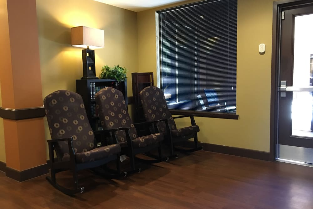 Seating for residents at Avenir Memory Care at Scottsdale in Scottsdale, Arizona