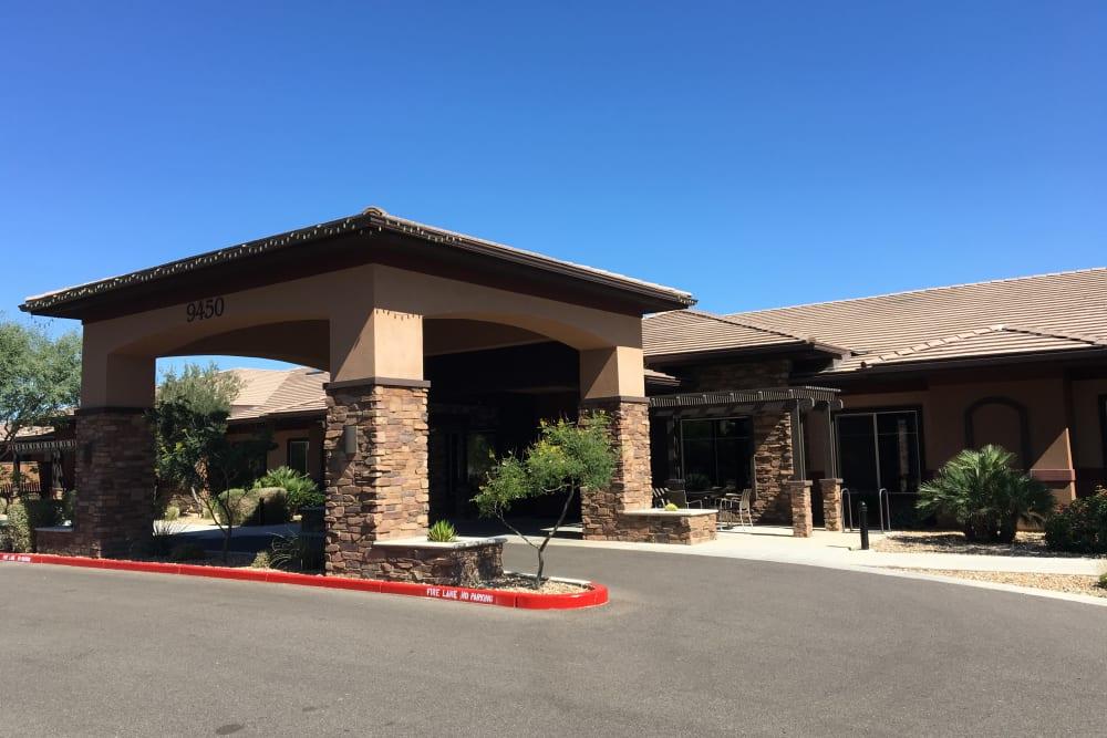Driveway up to Avenir Memory Care at Scottsdale in Scottsdale, Arizona