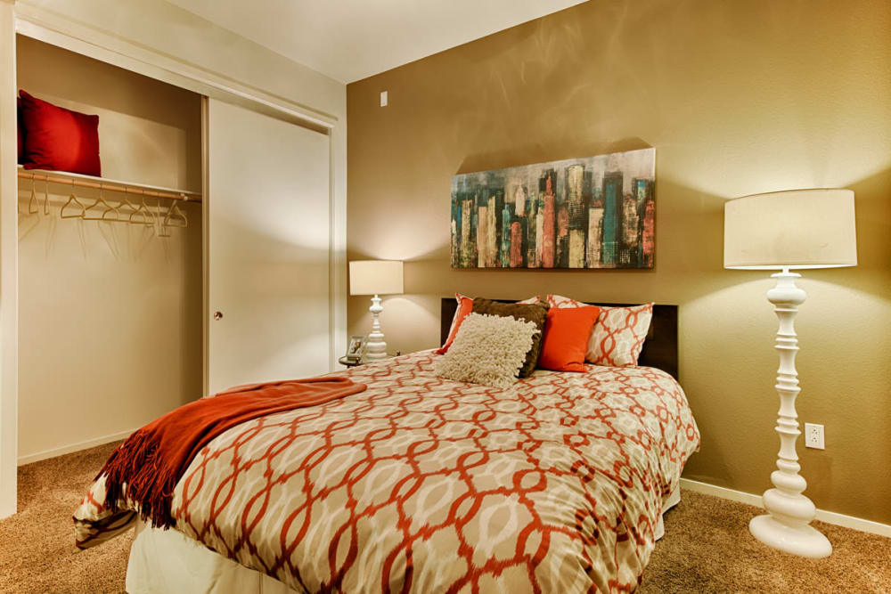 Bright bedroom at Ten Wine Lofts in Scottsdale, Arizona
