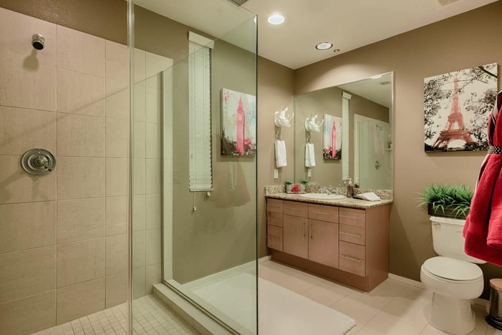 Luxury bathroom model at Ten Wine Lofts in Scottsdale, Arizona