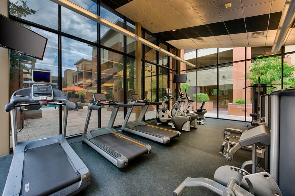 Luxury fitness center at Ten Wine Lofts in Scottsdale, Arizona