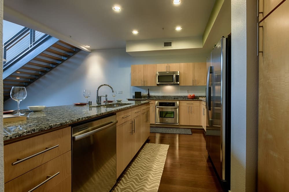 Apartment features at Ten Wine Lofts in Scottsdale, Arizona