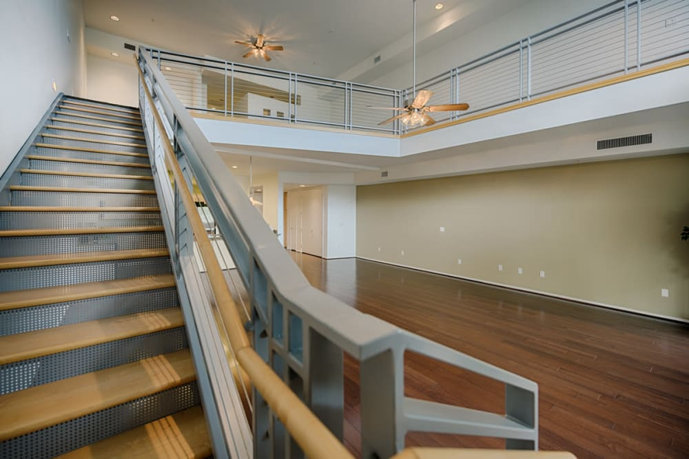 Awesome open staircase at Ten Wine Lofts in Scottsdale, Arizona